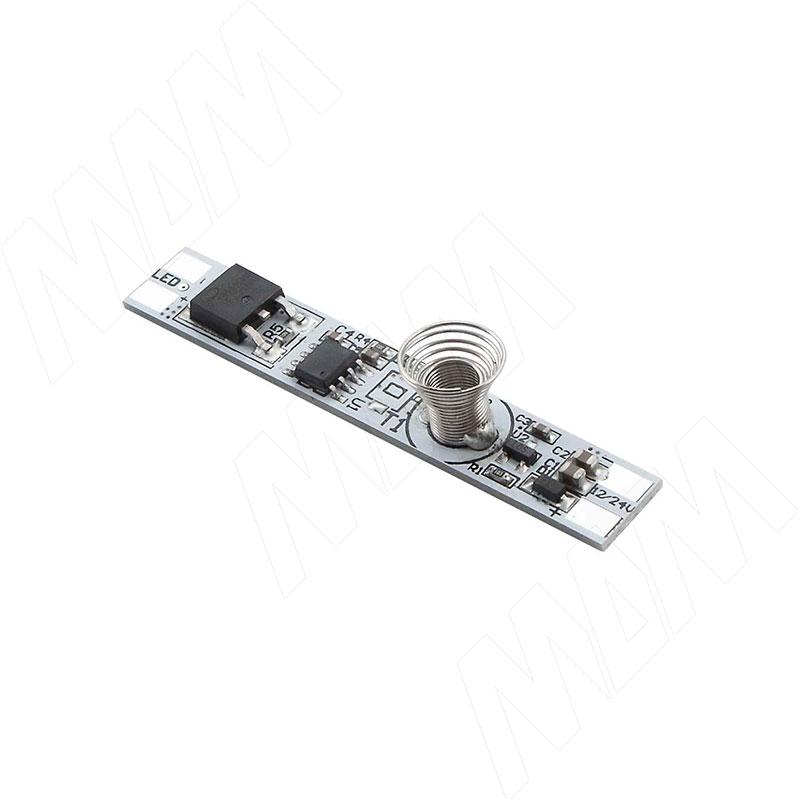 Выключатель сенсорный, диммируемый, для установки в профиль, 12/24V, 60/120W (SW1-TS-PR-1) 0 pr на 100