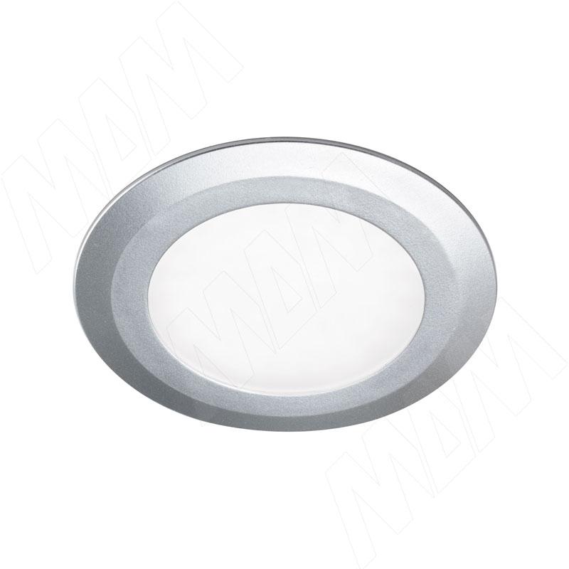 Фото - SMALLY Точечный светильник круглый, серебро, 12V, нейтральный белый 4000К, 3W (SY12-RNO-ANW3) solo светодиодный светильник точечный врезной никель сатин 12v нейтральный белый 4000к 4w sl65 ns w 4 0