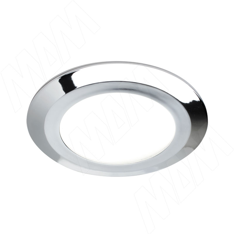 Фото - SMALLY Точечный светильник круглый, хром, 12V, нейтральный белый 4000К, 3W (SY12-RNO-CNW3) solo светодиодный светильник точечный врезной никель сатин 12v нейтральный белый 4000к 4w sl65 ns w 4 0