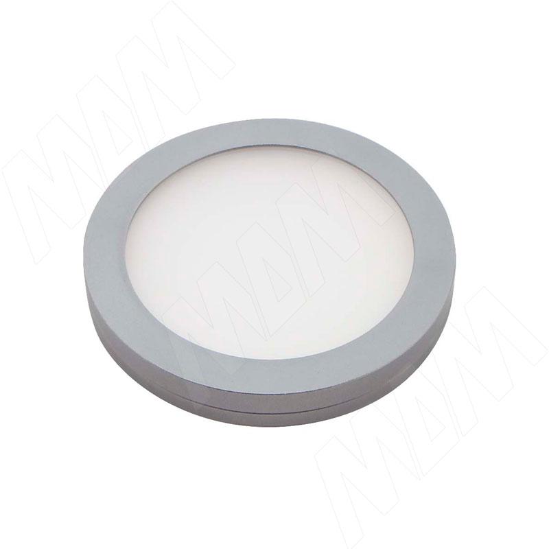 VEGA Светодиодный светильник точечный, круглый, графит, 12V, нейтральный белый 4500К, 2,2W (VE12-RNO-GR-NW2) vega светодиодный светильник точечный круглый серебро 12v нейтральный белый 4500к 2 2w ve12 rno mcr nw2