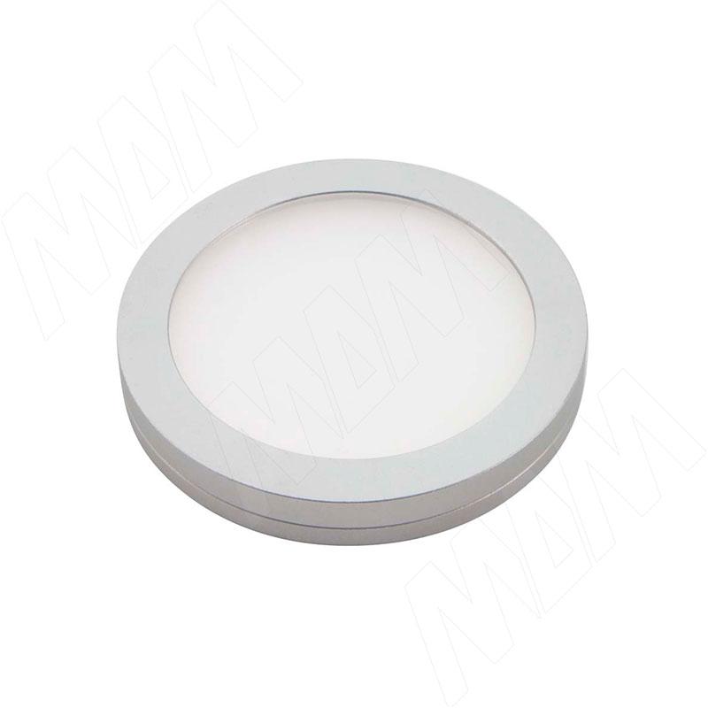 VEGA Светодиодный светильник точечный, круглый, серебро, 12V, нейтральный белый 4500К, 2,2W (VE12-RNO-MCR-NW2) vega светодиодный светильник точечный круглый серебро 12v нейтральный белый 4500к 2 2w ve12 rno mcr nw2