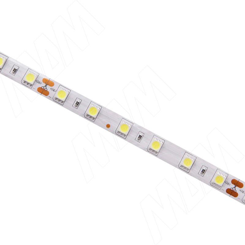 Лента светодиодная 5050/60, 24V, 5 м, нейтральный белый 4000К, IP20, 14.4W/1м фото товара 2 - LS24-5050NW20-14.4