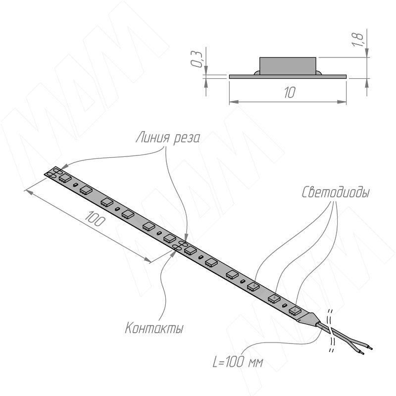 Лента светодиодная 5050/60, 24V, 5 м, нейтральный белый 4000К, IP20, 14.4W/1м фото товара 4 - LS24-5050NW20-14.4