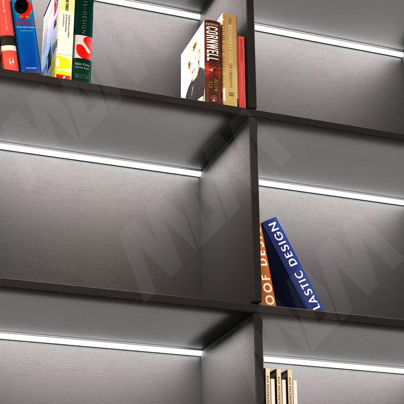 Профиль WD1 для торцевой подсветки деревянной полки, накладной, серебро, 35х12мм, L-2000 фото товара 4 - LSP-WD1-ALU-2000-AL