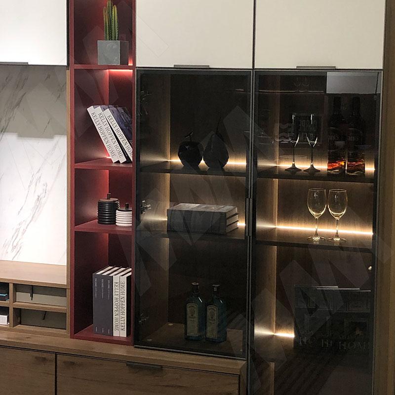 Профиль WD2 для торцевой подсветки деревянной полки, накладной, серебро, 12х21мм, L-2500 фото товара 5 - LSP-WD2-ALU-2500-AL