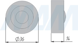 Размеры пульта дистанционного управления выключателя CALL ME (артикул SW12/24-RC-AL)