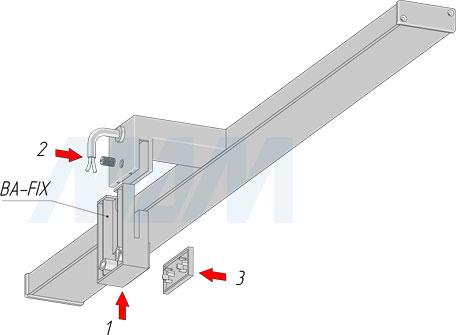 Установка настенного крепления для светильников BATH (артикул BA-FIX)