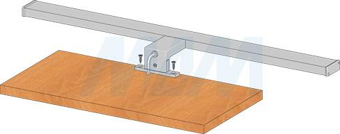 Установка светодиодного светильника BATH для верхней подсветки на горизонтальную плоскость (артикул BA220)