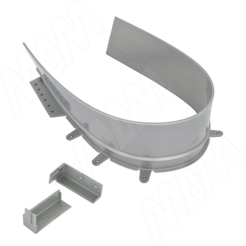 Профиль пласт. для ящика под мойку, серый, L=680 мм (10.1660)