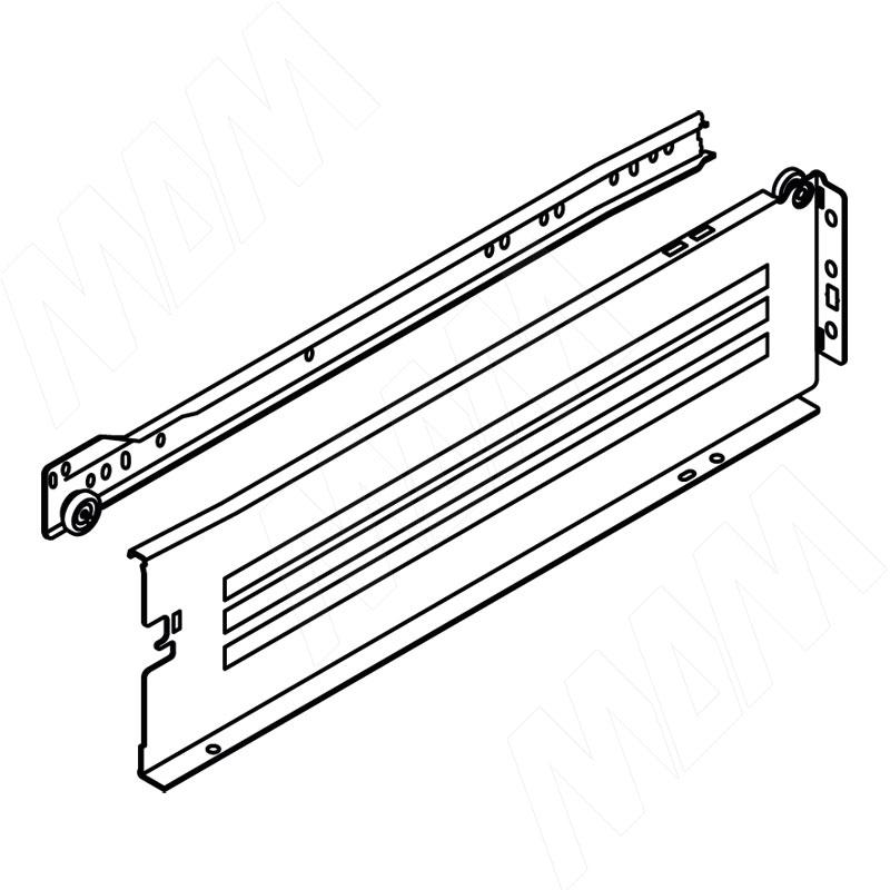 IMPAZ комплект ящика 350 мм, крем, боковины h117 мм с роликовыми направляющими, без фиксаторов (4320-35 CREAM)
