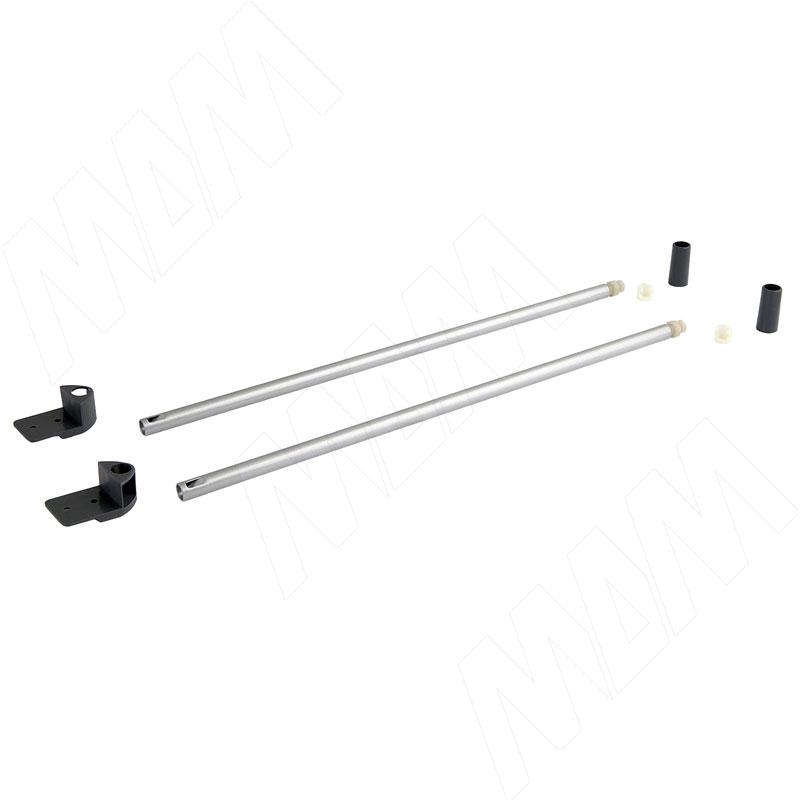 цена на NOVA PRO DELUXE комплект круглых рейлингов 400 мм, серый металлик (F102045971)
