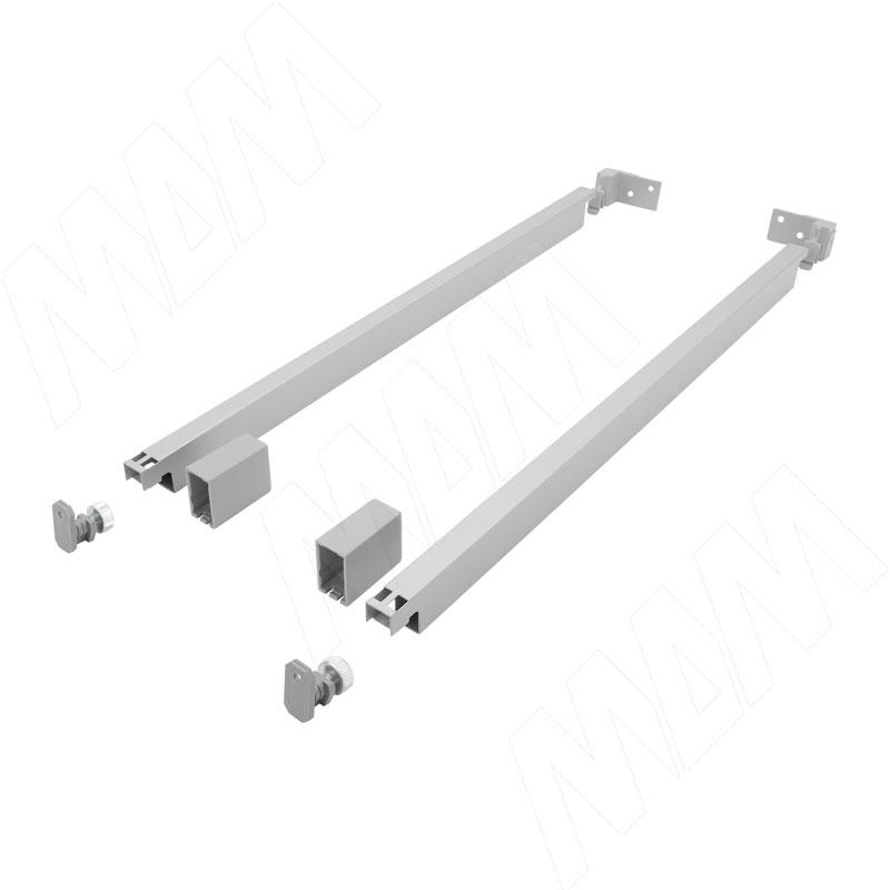 цена на NOVA PRO SCALA комплект прямоугольных рейлингов 450 мм, серый металлик (F102103538)