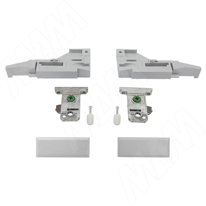 VIONARO Комплект фиксаторов фасада и заглушек внутреннего ящика h=89, серый металлик (F136100277)