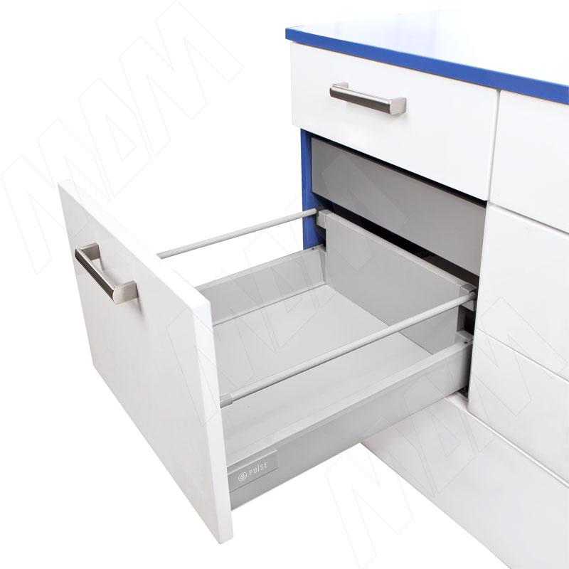 цена M-TECH стандартный ящик с рейлингом, длина 450 мм, серый металлик (MT.MS.450G (серый)) онлайн в 2017 году