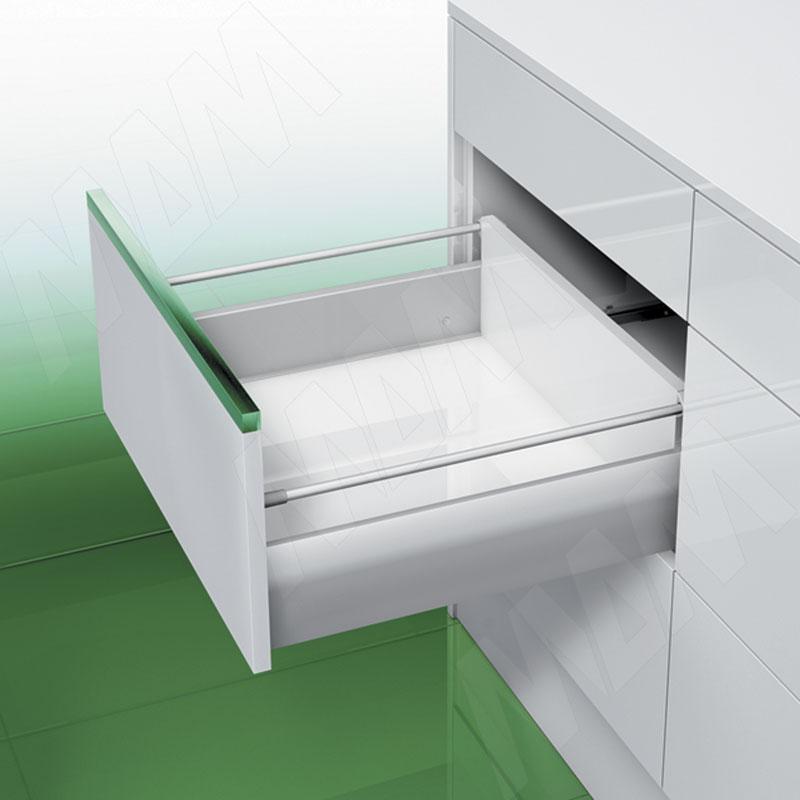 NOVA PRO DELUXE [MS] Стандартный ящик с рейлингом, открывание от нажатия/плавное закрывание, 450 мм (NPS.MS.040.450 TPSF (сер.мет))