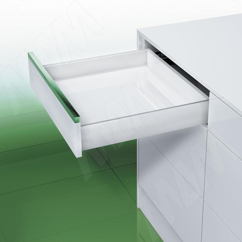 NOVA PRO DELUXE [S] Стандартный ящик без рейлингов, плавное закрывание, 350 мм, белый (NPS.S.040.350(белый)) недорого