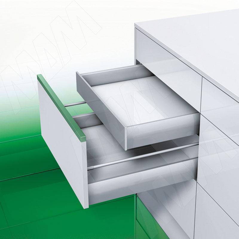 NOVA PRO DELUXE [SI F8] Внутренний ящик F8 без рейлингов, плавное закрывание, 500 мм (NPS.SIF8.040.500(сер.мет))