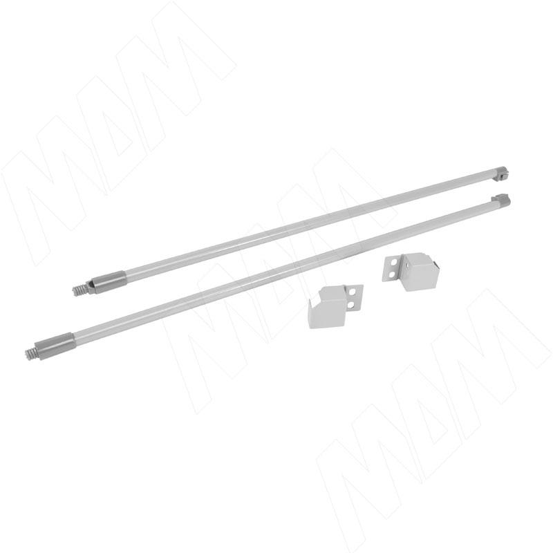 цена на M-TECH комплект круглых рейлингов с фиксаторами 350 мм, серый металлик (RL350G/N)