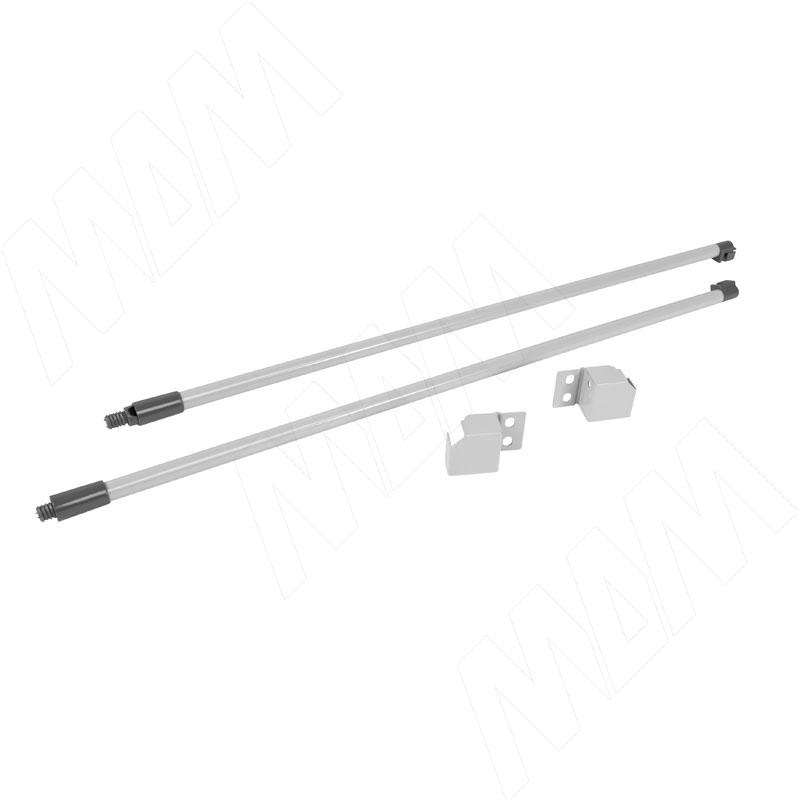 цена на M-TECH комплект круглых рейлингов с фиксаторами 400 мм, серый металлик (RL400G)