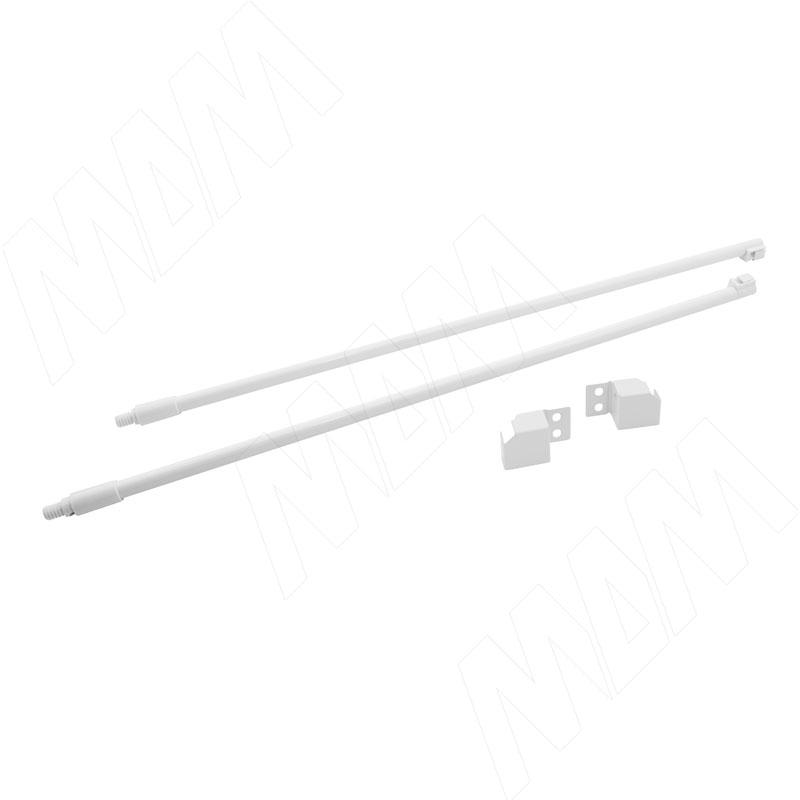 цена на M-TECH комплект круглых рейлингов с фиксаторами 500 мм, белый (RL500W)