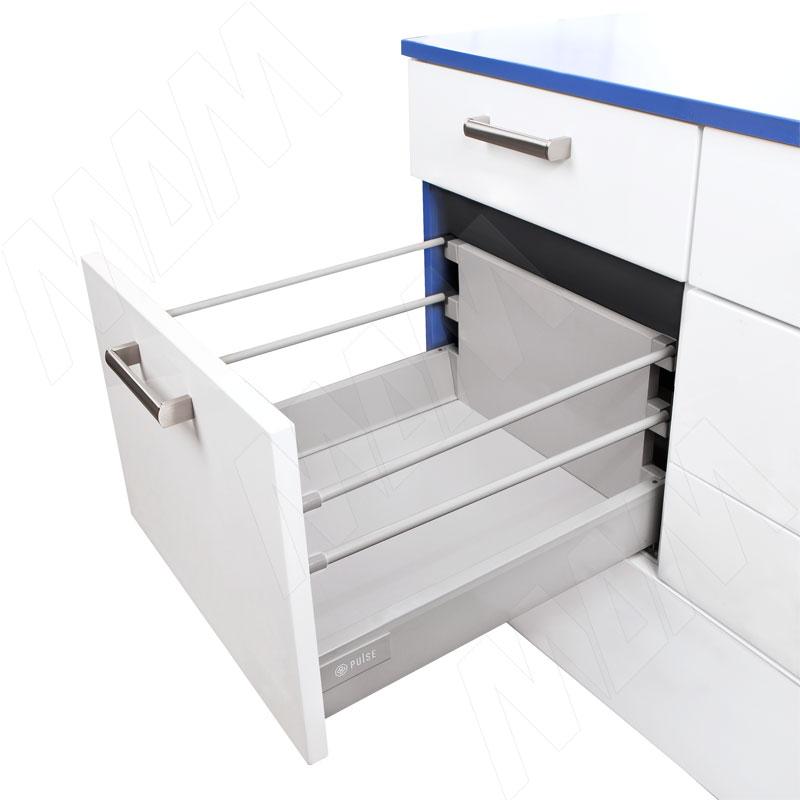 цена M-TECH стандартный ящик с двойным наращиванием, длина 450 мм, серый металлик (STR.HSD.450G (серый)) онлайн в 2017 году