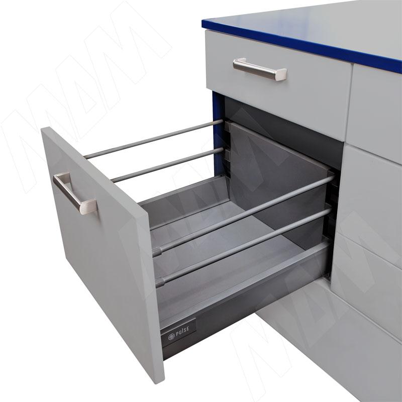 M-TECH стандартный ящик с двойным наращиванием, длина 450 мм, графит (STR.HSD.450GP (графит))