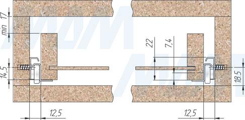 Установка роликовых направляющих VEKTOR RS (артикул RSL), чертеж 1