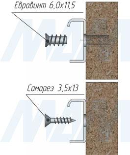 Установка роликовых направляющих VEKTOR RS (артикул RSL), чертеж 3