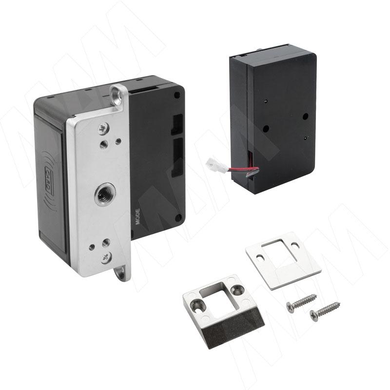 INVISIBLE Замок электронный RFID для 2-х раздвижных дверей, выдвижной, частота 125 кГц (SDCW-SL-125BK) samsung shs 5230 h705 pink gold электронный дверной замок