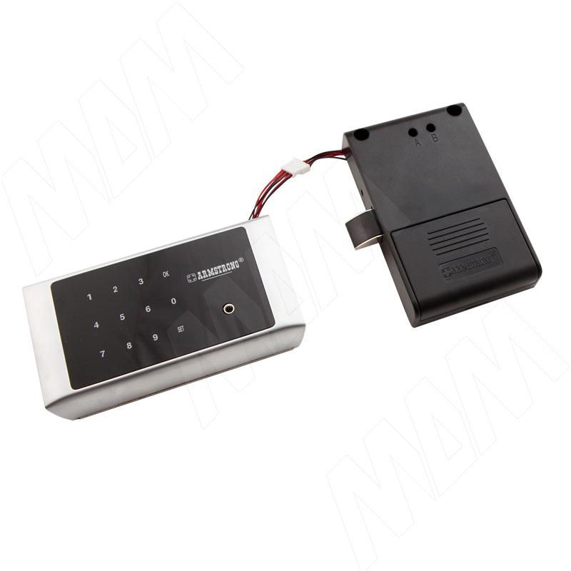 Замок с электронным кодом для 1-ой двери, выдвижной, хром матовый (SDPW002MCR)