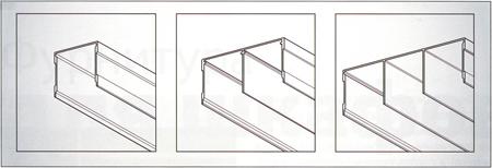Верхние направляющие раздвижных перегородок для дверей с опорой на нижние ролики
